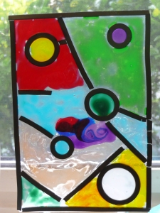 """Interfaith Families Project--""""stained glass"""" made in Sunday School"""