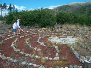 Labyrinth at Lama, photo Sue Katz Miller