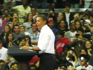 President Obama, University of Maryland, photo Susan Katz Miller