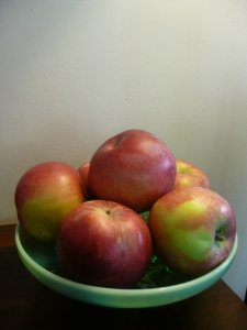 Rosh Hashanah Apples, photo Susan Katz Miller