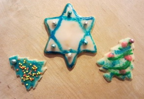 Christmas and Hanukkah cookies, photo Susan Katz Miller