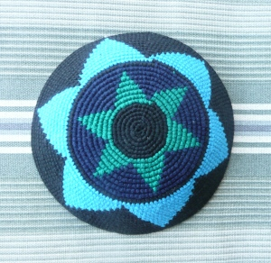 Kippah from Guatemala, photo Susan Katz Miller