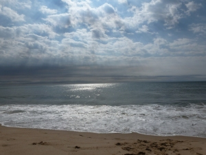 Clouds, sun, ocean