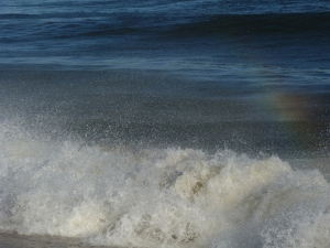 Rainbow in the Waves, photo Susan Katz Miller
