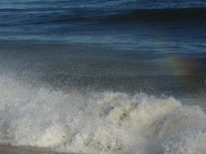 Rainbow in the Waves, photo Susan Katz Miller