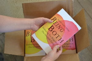 A box full of Being Both books arrives on my porch.