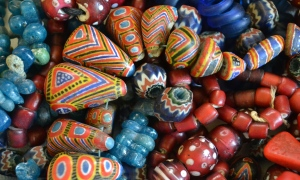 Beads I collected in Senegal, Mauritania and Mali.      Photo: Susan Katz Miller