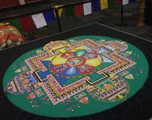 Tibetan Buddhist sand mandala, Registration Hall, Salt Palace Convention Center
