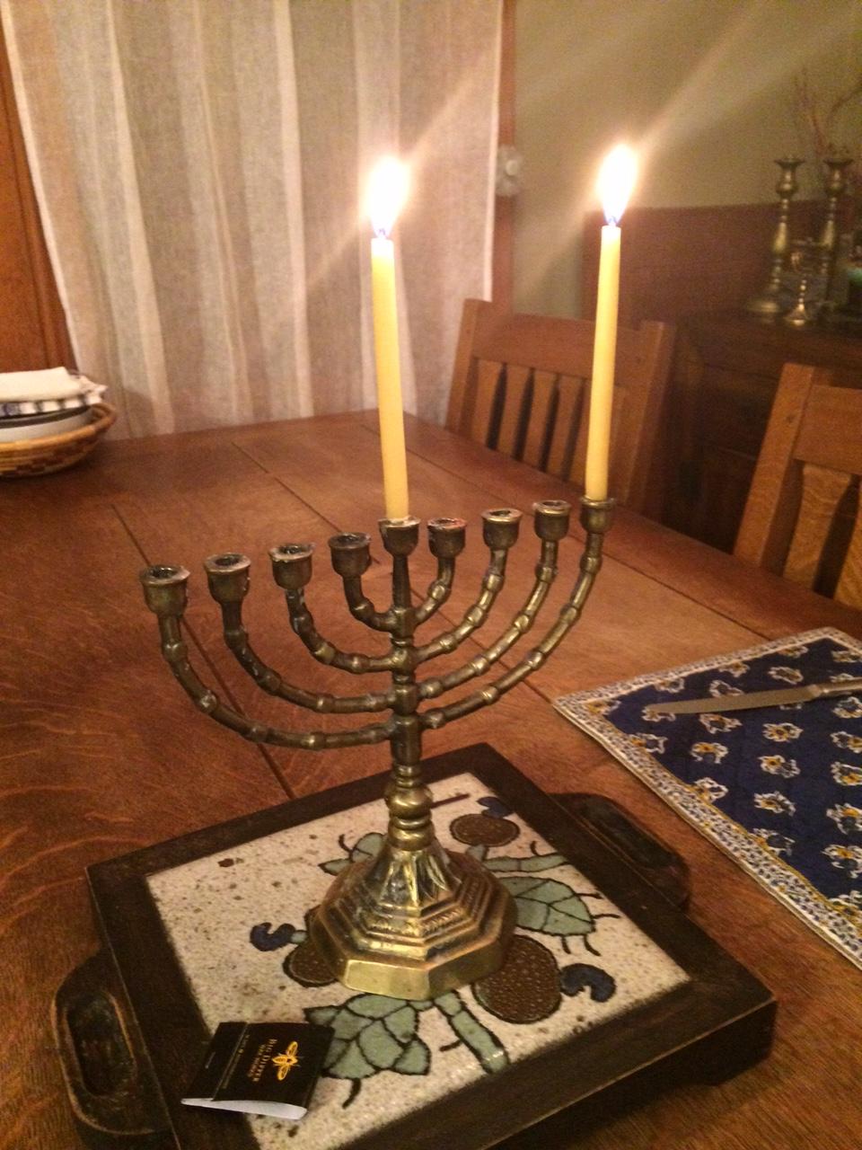 First Night of Hanukkah, photo by Susan Katz Miller