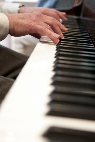 Bill Katz at the piano, Ben's Bar Mitzvah